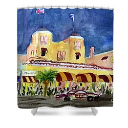 Colony Hotel In Delray Beach Shower Curtain by Donna Walsh
