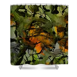 Color Abstraction Xvii Shower Curtain by David Gordon
