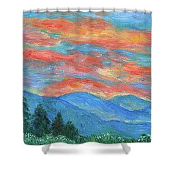 Color Blast Shower Curtain by Kendall Kessler
