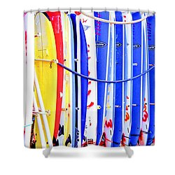 Color Boards Shower Curtain