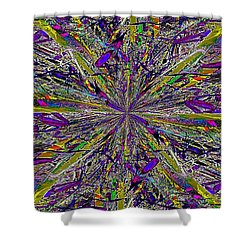 Color Boom Shower Curtain by Tim Allen