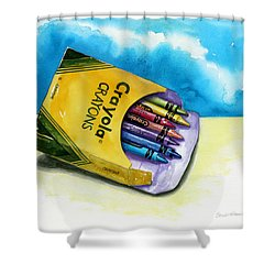 Color Buffet Shower Curtain by Sandi Howell