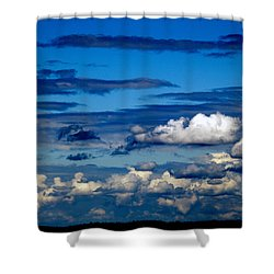 Color Burned Clouds Shower Curtain