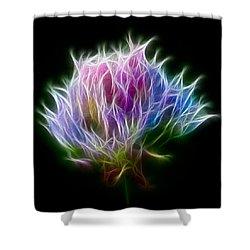 Color Burst Shower Curtain by Adam Romanowicz