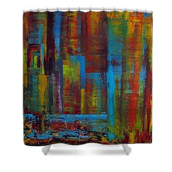 Color Burst Shower Curtain