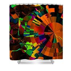 Color Burst - Orange Shower Curtain