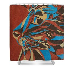 Shower Curtain featuring the painting Color Cat II by Pamela Clements