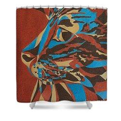 Color Cat II Shower Curtain by Pamela Clements