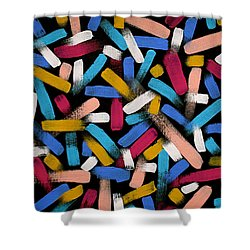 Color Comets Shower Curtain