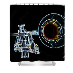 Color Drawing Of A Trumpet Bell Isolated 3018.05 Shower Curtain