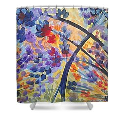 Color Flurry Shower Curtain by Holly Carmichael