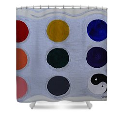 Color From The Series The Elements And Principles Of Art Shower Curtain by Verana Stark