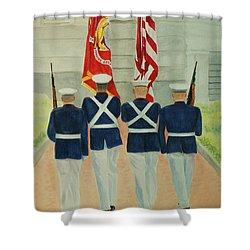 Color Guard Shower Curtain