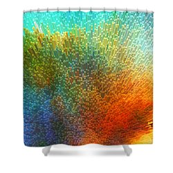 Color Infinity - Abstract Art By Sharon Cummings Shower Curtain by Sharon Cummings
