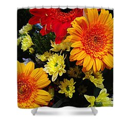 Shower Curtain featuring the photograph Color Me Bright by Meghan at FireBonnet Art