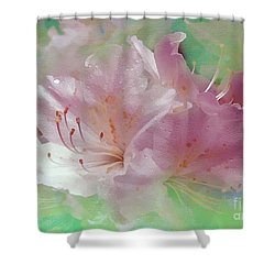 Color Me Softly Shower Curtain by Sami Martin