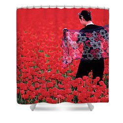 Color Me Tulip Shower Curtain by Bob Christopher