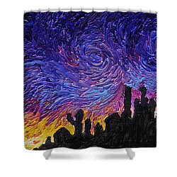 Color Of The Sky Part1 Shower Curtain