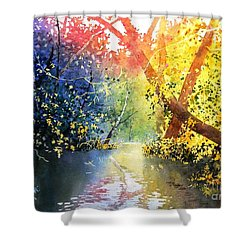 Color Of Trees Shower Curtain