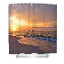 Color Palette Of God On The Beach Shower Curtain