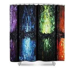 Color Panels 1 Shower Curtain by Patricia Lintner