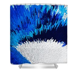 Color Shock 2 - Vibrant Digital Painting Art Shower Curtain by Sharon Cummings