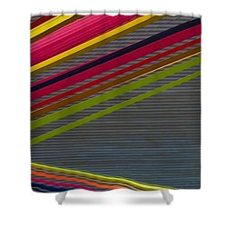 Shower Curtain featuring the photograph Color Strips by Stuart Litoff