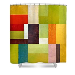 Color Study Abstract 10.0 Shower Curtain by Michelle Calkins