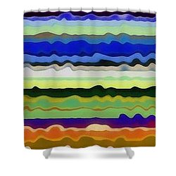 Color Waves No. 5 Shower Curtain by Michelle Calkins