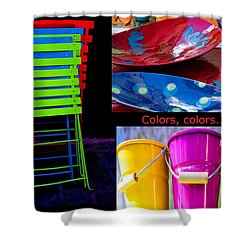 Color Your Life 1 Shower Curtain by Dany Lison