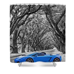Color Your World - Lamborghini Gallardo Shower Curtain