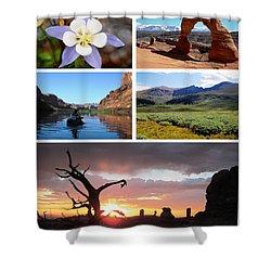 Colorado Utah Calendar 2018 Shower Curtain