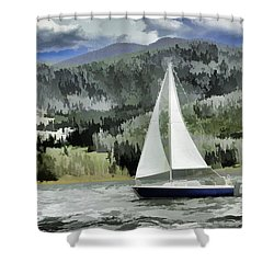 Colorado By Wind Shower Curtain