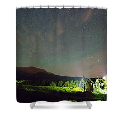 Colorado Chapel On The Rock Dreamy Night Sky Shower Curtain by James BO  Insogna