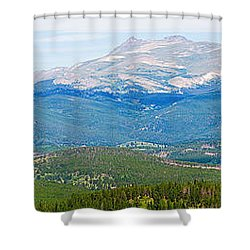 Colorado Continental Divide Panorama Hdr Crop Shower Curtain by James BO  Insogna
