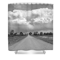 Colorado Country Road Stormin Bw Skies Shower Curtain by James BO  Insogna