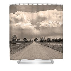 Colorado Country Road Stormin Sepia  Skies Shower Curtain by James BO  Insogna
