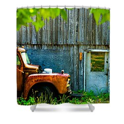 Shower Curtain featuring the digital art Colorado County No 57 by Bartz Johnson