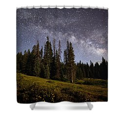 Shower Curtain featuring the photograph Colorado Milky Way by Brian Spencer