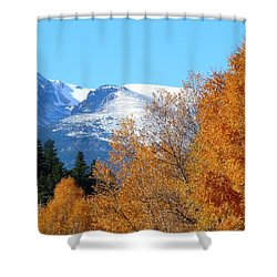 Colorado Mountains In Autumn Shower Curtain by Marilyn Burton