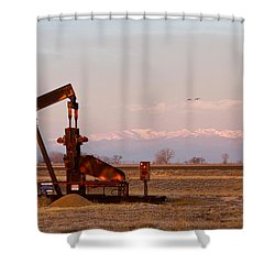 Colorado Oil Well Panorama Shower Curtain by James BO  Insogna