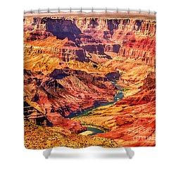 Colorado River 1 Mi Below 100 Miles To Vermillion Cliffs Utah Shower Curtain