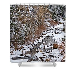 Colorado St Vrian Winter Scenic Landscape View Shower Curtain by James BO  Insogna