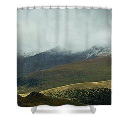 Colorado's Front Range Panorama Shower Curtain by Benjamin Reed
