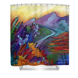 Colordance Shower Curtain by Elizabeth Fontaine-Barr