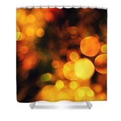 Shower Curtain featuring the digital art Coloured Bokeh Lights by Fine Art By Andrew David