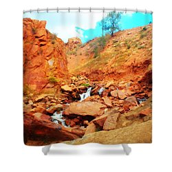 Colored Falls Shower Curtain
