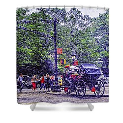 Colored Memories - Central Park Shower Curtain by Madeline Ellis