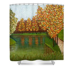 Colored Reflections Shower Curtain by Madalena Lobao-Tello