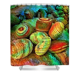 Colored Stones By Rafi Talby   Shower Curtain by Rafi Talby